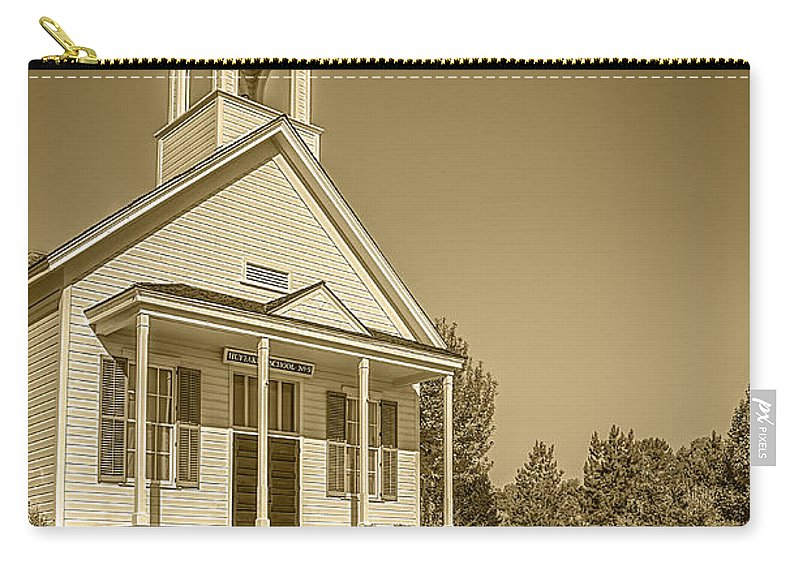 Architecture Carry-all Pouch featuring the photograph The Schoolhouse Hdr by LeeAnn McLaneGoetz McLaneGoetzStudioLLCcom