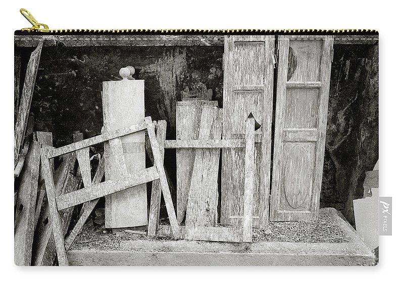 Still Life Carry-all Pouch featuring the photograph The Scrap Yard by Shaun Higson