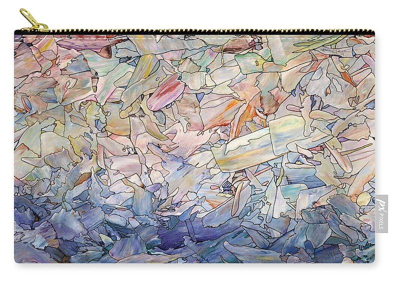 Sea Carry-all Pouch featuring the painting Fragmented Sea by James W Johnson