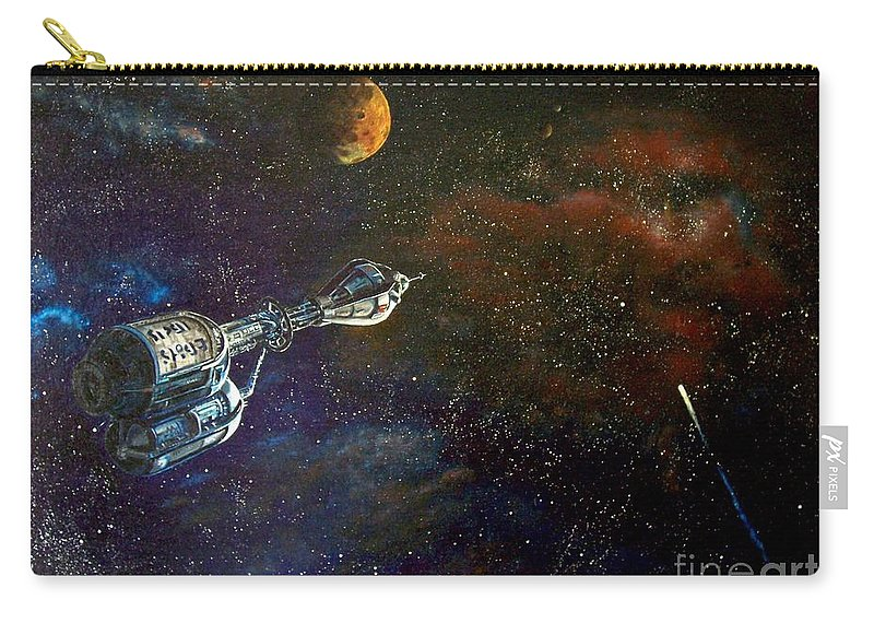 Vista Horizon Carry-all Pouch featuring the painting The Search for Earth by Murphy Elliott