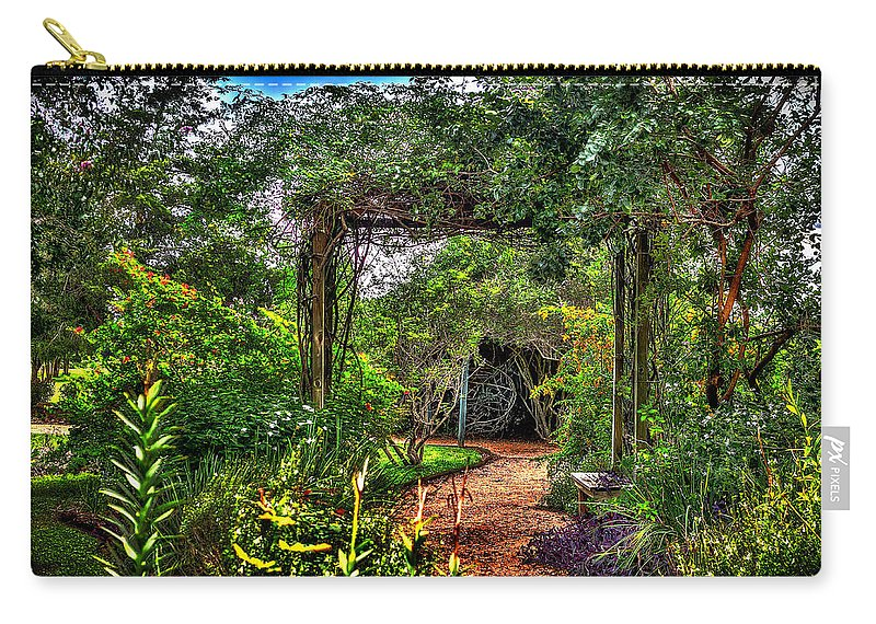 The Secret Garden Carry-all Pouch featuring the photograph The Secret Garden by David Morefield