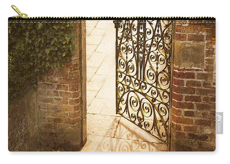 Garden Gate Carry-all Pouch featuring the photograph The Secret Garden by Lee Avison