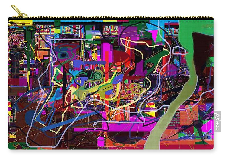 Torah Carry-all Pouch featuring the digital art The Secret Of The Tzimzum 2 Heh Emunah Bc2 by David Baruch Wolk