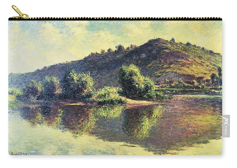 Impressionist Carry-all Pouch featuring the painting The Seine At Port-villez, 1883 by Claude Monet