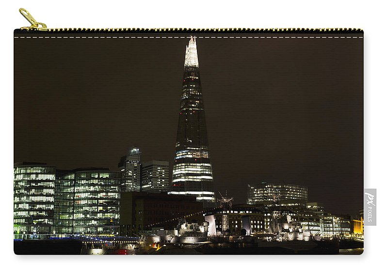 Shard Carry-all Pouch featuring the photograph The Shard And Southbank London by David Pyatt