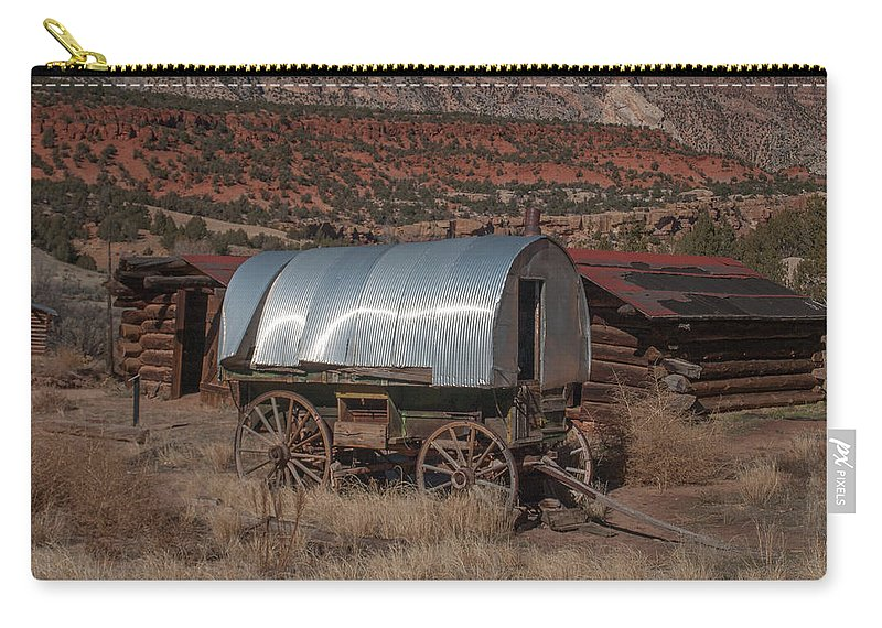 Sheep Camp Carry-all Pouch featuring the photograph The Sheep Wagon by Joshua House