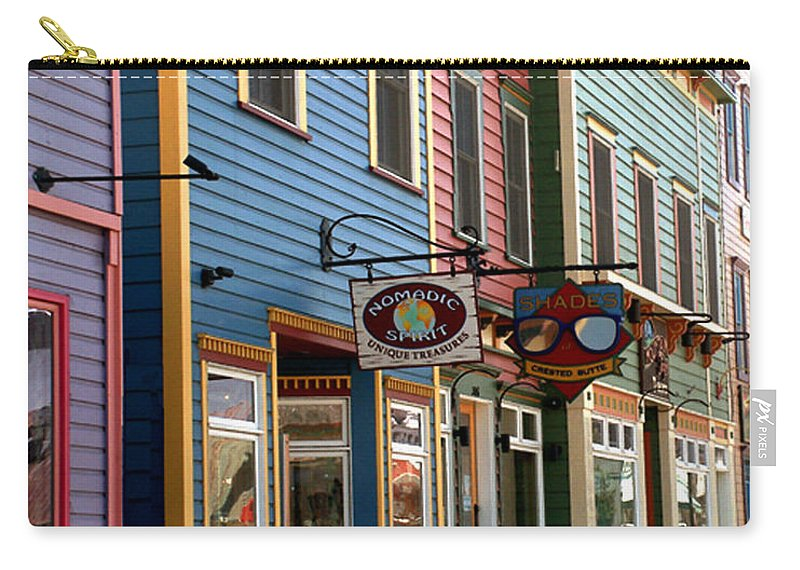 Landscape Carry-all Pouch featuring the photograph The Shops In Crested Butte by RC DeWinter