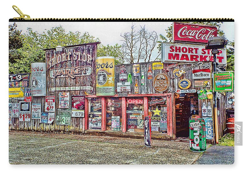 Store Carry-all Pouch featuring the photograph The Short Stop In Kent Washington by Cathy Anderson