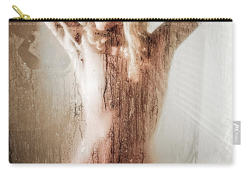 Art Carry-all Pouch featuring the photograph The Shower by Jt PhotoDesign