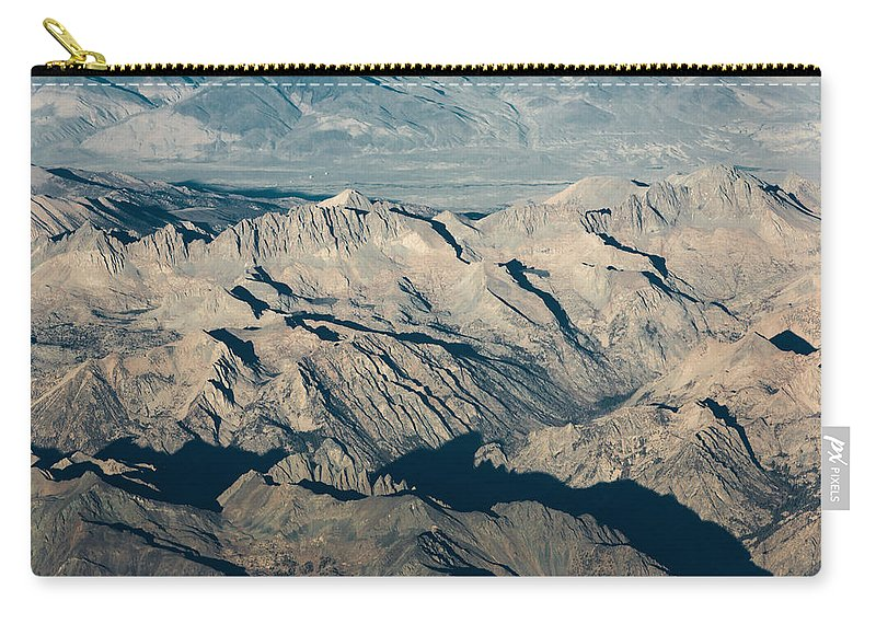 Sierra Carry-all Pouch featuring the photograph The Sierra Nevadas by John Daly