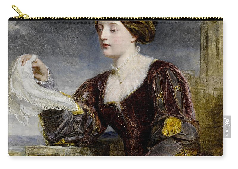 William Powell Frith Carry-all Pouch featuring the digital art The Signal by William Powell Frith