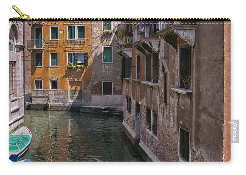 Venice Carry-all Pouch featuring the photograph The Silent Street by Sandra Bronstein