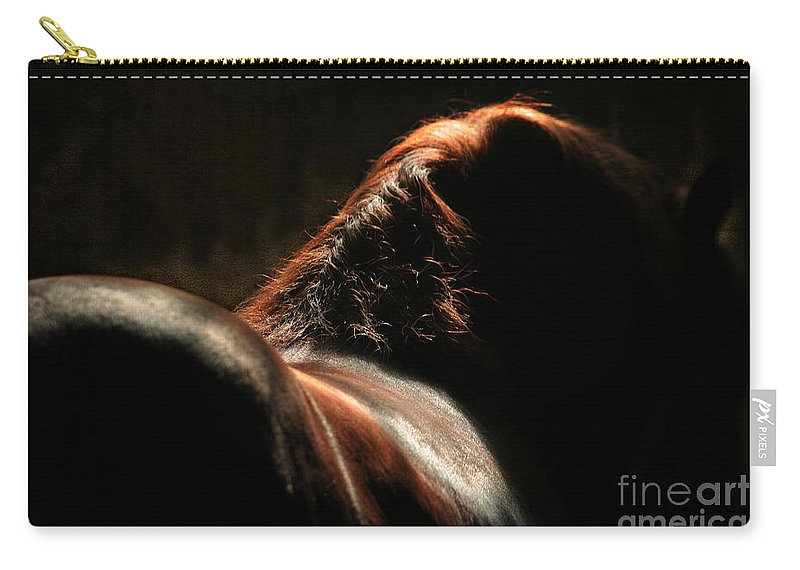 Horse Carry-all Pouch featuring the photograph The Silhouette by Angel Ciesniarska
