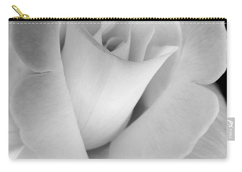 Rose Carry-all Pouch featuring the photograph The Silver Rose In Portrait by Jennie Marie Schell