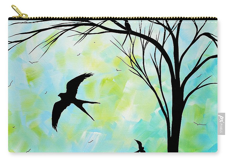 Wall Carry-all Pouch featuring the painting The Simple Life By Madart by Megan Duncanson