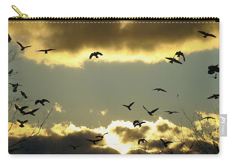 Clouds Carry-all Pouch featuring the photograph The Sky Opened by Gothicrow Images