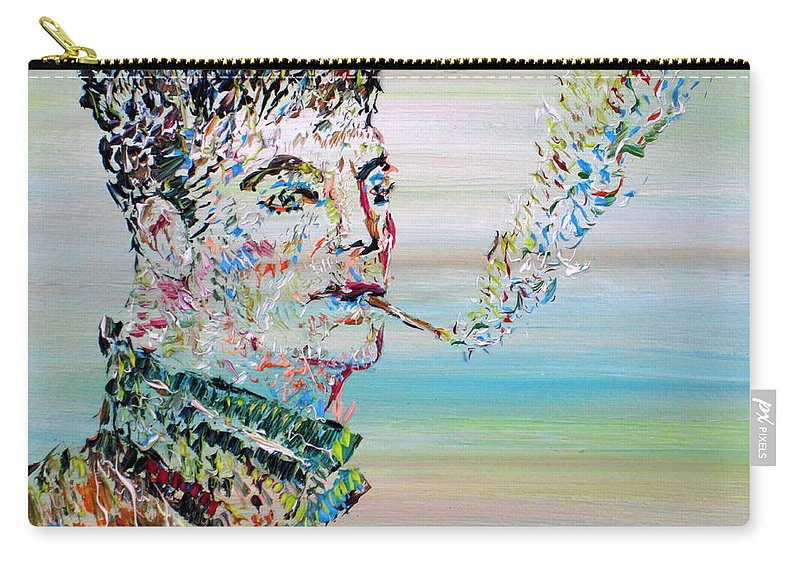 Boy Carry-all Pouch featuring the painting The Smoker by Fabrizio Cassetta