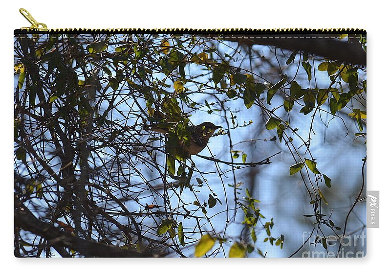 The Song Of Winter Carry-all Pouch featuring the photograph The Song Of Winter by Maria Urso