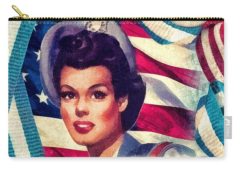 The Spirit Of America Carry-all Pouch featuring the mixed media The Spirit Of America by Mo T