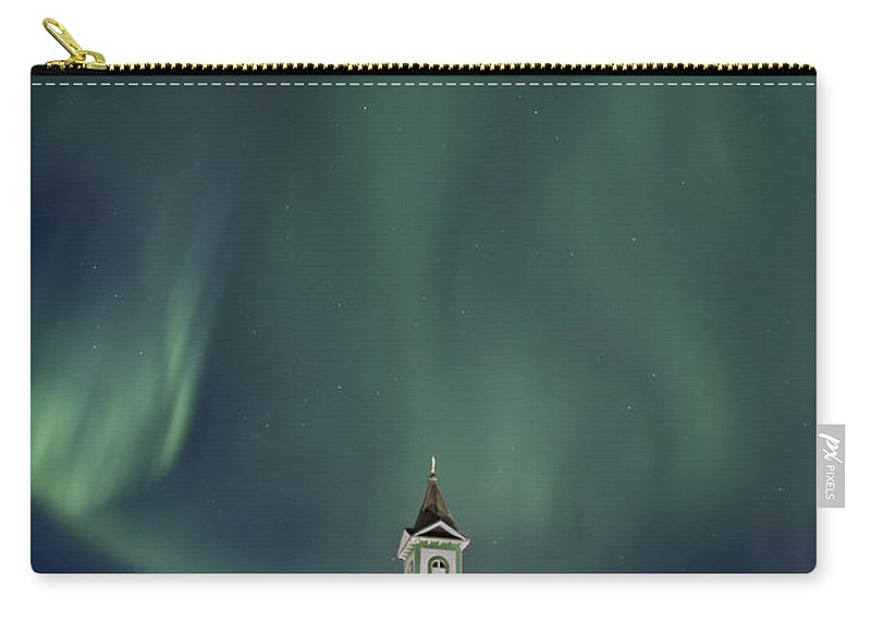 Aurora Carry-all Pouch featuring the photograph The Spirit Of Iceland by Evelina Kremsdorf