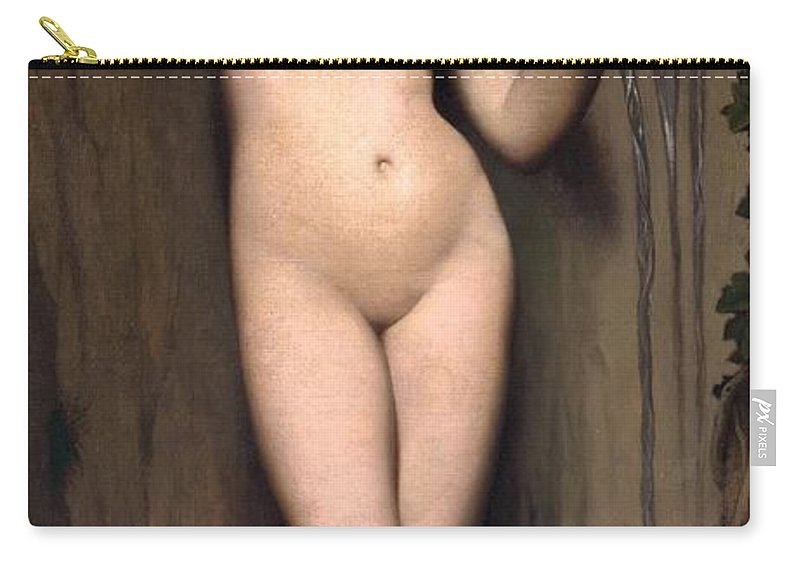 1856 Carry-all Pouch featuring the painting The Spring by Jean-Auguste-Dominique Ingres