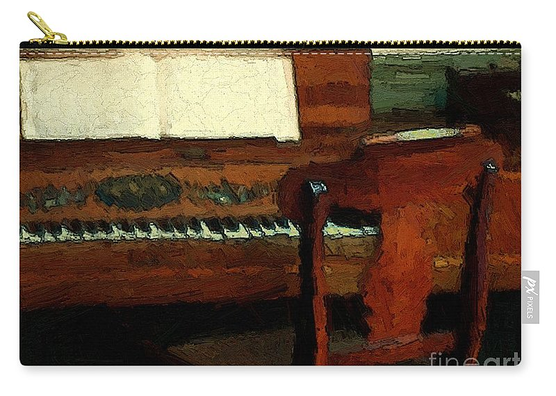Colonial Carry-all Pouch featuring the painting The Square Piano by RC DeWinter