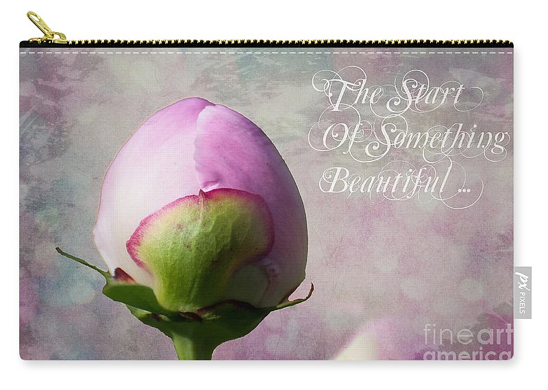Flower Carry-all Pouch featuring the photograph The Start Of Something Beautiful ... by Bianca Nadeau
