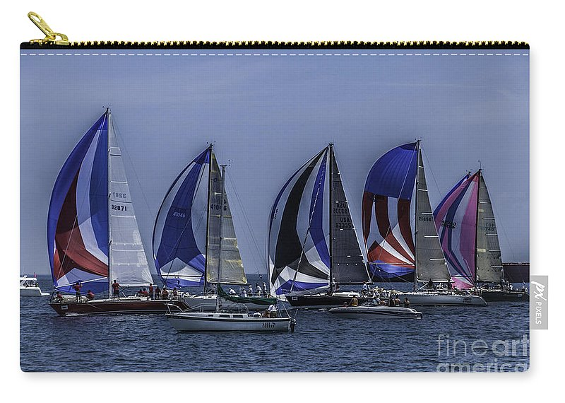 Sailboats Carry-all Pouch featuring the photograph The Start by Ronald Grogan