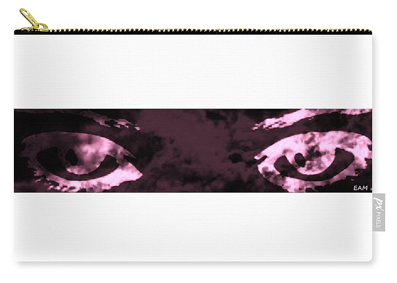 Fractal Art Carry-all Pouch featuring the photograph The Storm You Left Behind My Eyes 2 by Elizabeth McTaggart