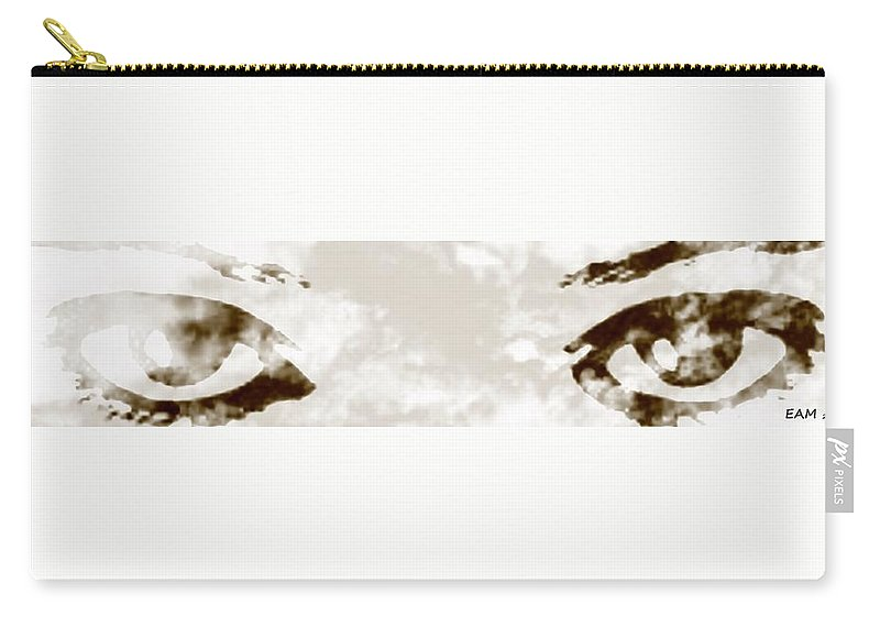Fractal Art Carry-all Pouch featuring the digital art The Storm You Left Behind My Eyes 4 by Elizabeth McTaggart