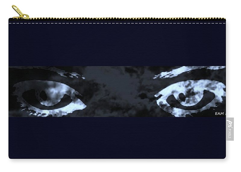 Fractal Art Carry-all Pouch featuring the digital art The Storm You Left Behind My Eyes by Elizabeth McTaggart