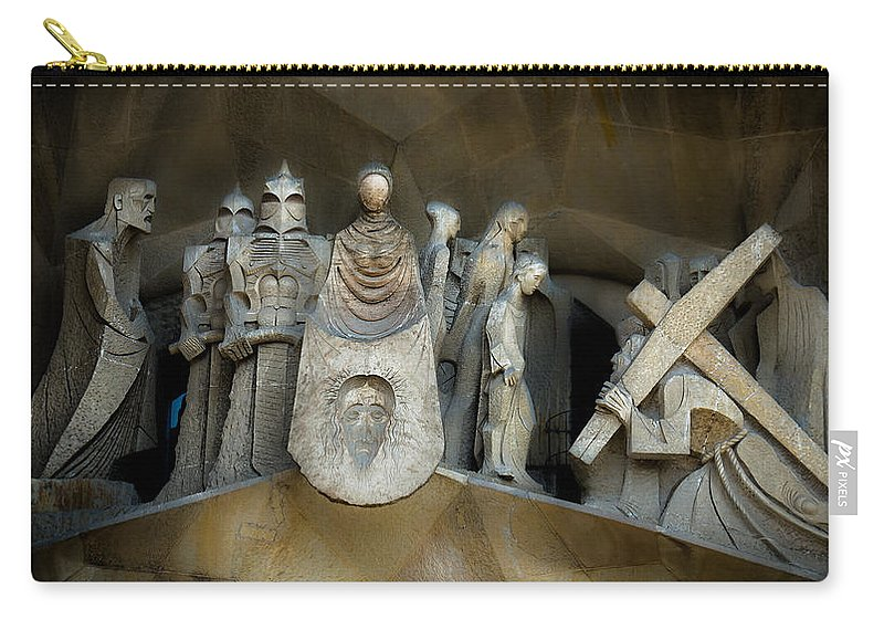 Stone Statue Carry-all Pouch featuring the photograph The Story by Sotiris Filippou