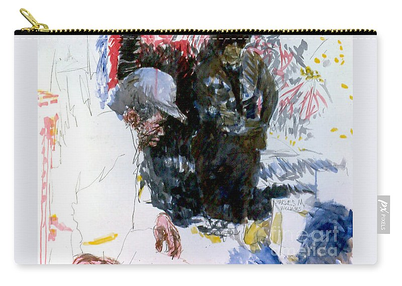 Man Carry-all Pouch featuring the painting The Story Teller by Charles M Williams