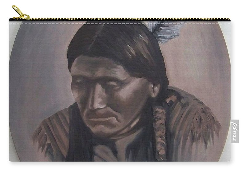 Michael Carry-all Pouch featuring the painting The Story Teller by Michael TMAD Finney