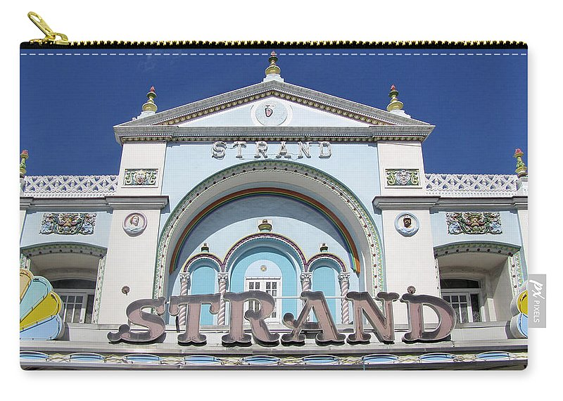 Vintage Carry-all Pouch featuring the photograph The Strand Key West by Bob Slitzan