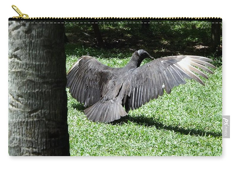 Wildlife Carry-all Pouch featuring the photograph The Strut by Linda Kerkau