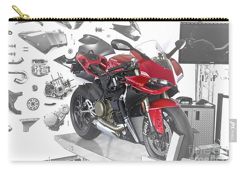 Motorcycle Carry-all Pouch featuring the photograph The Sum Of The Parts by Douglas Barnard