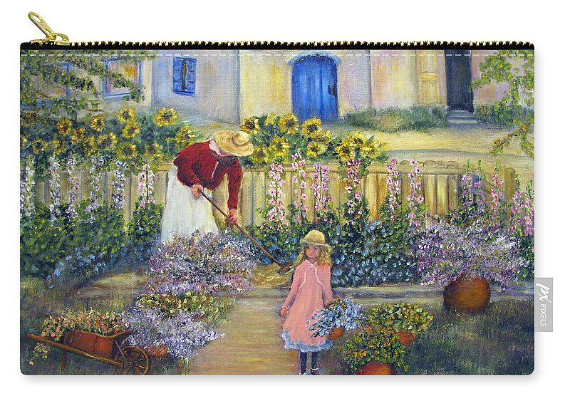 Garden Carry-all Pouch featuring the painting The Summer Garden by Loretta Luglio