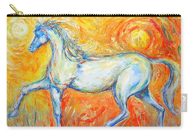Painting By Frederick Luff Carry-all Pouch featuring the painting The Sun Horse by Frederick Luff