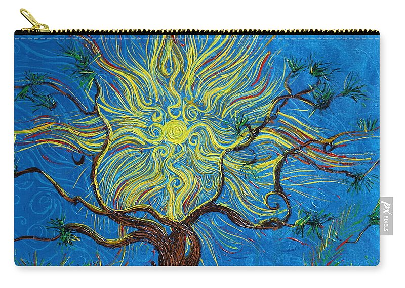 Landscape Carry-all Pouch featuring the painting The Sun Tree by Stefan Duncan