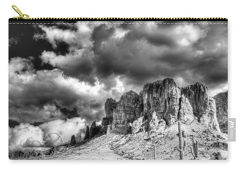 Arizona Carry-all Pouch featuring the photograph The Superstitions by Saija Lehtonen