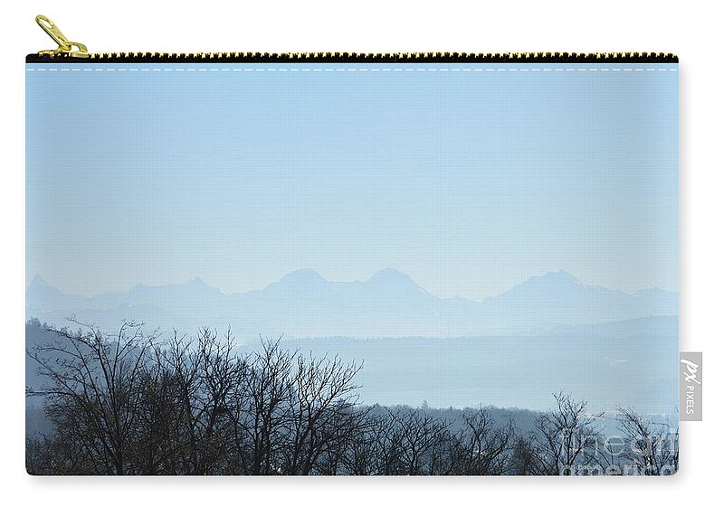Landscape Carry-all Pouch featuring the photograph The Swiss Alps Panorama 2 by Felicia Tica