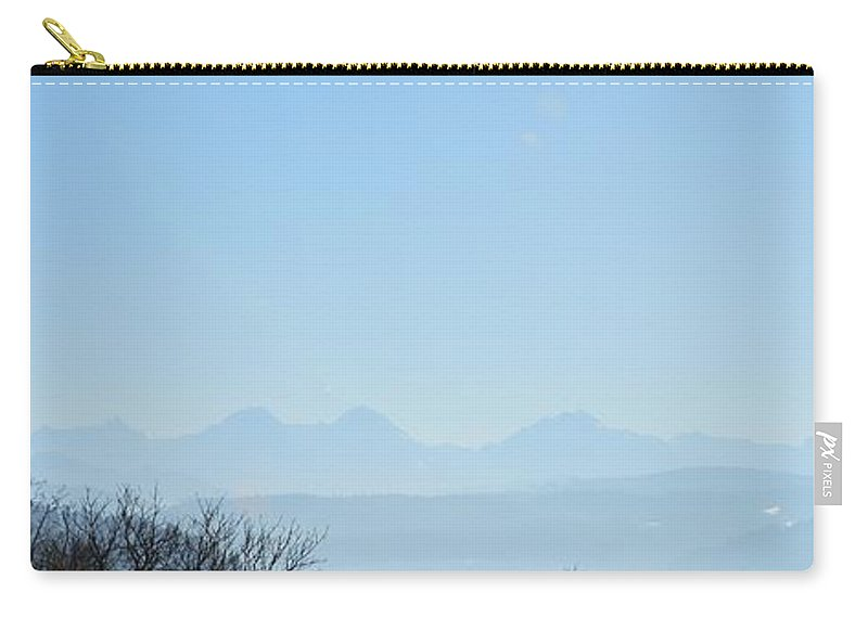 Landscape Carry-all Pouch featuring the photograph The Swiss Alps Panorama 3 by Felicia Tica
