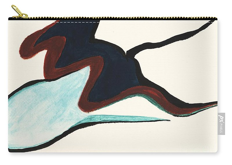 Abstract Carry-all Pouch featuring the painting The Tad Pole by Myrtle Joy