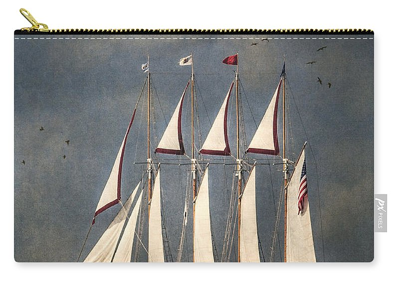 Windy Carry-all Pouch featuring the photograph The Tall Ship Windy by Dale Kincaid