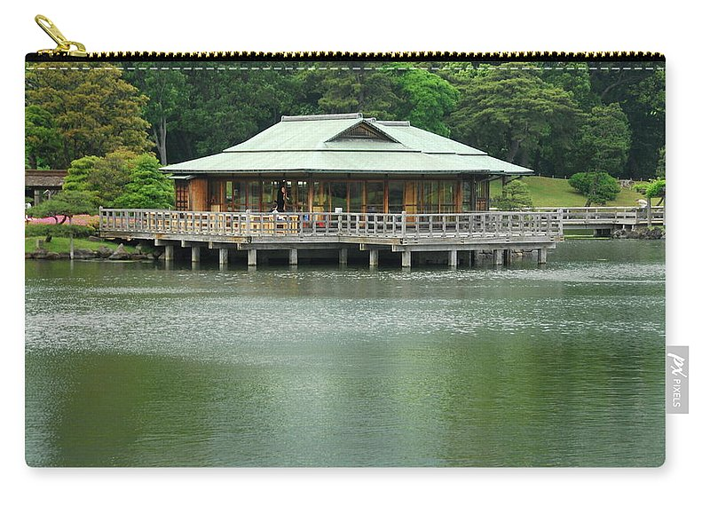 Japanese Carry-all Pouch featuring the photograph The Tea House by Jonah Anderson
