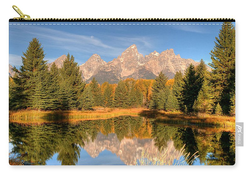 Tetons Carry-all Pouch featuring the photograph The Tetons by Steve Stuller