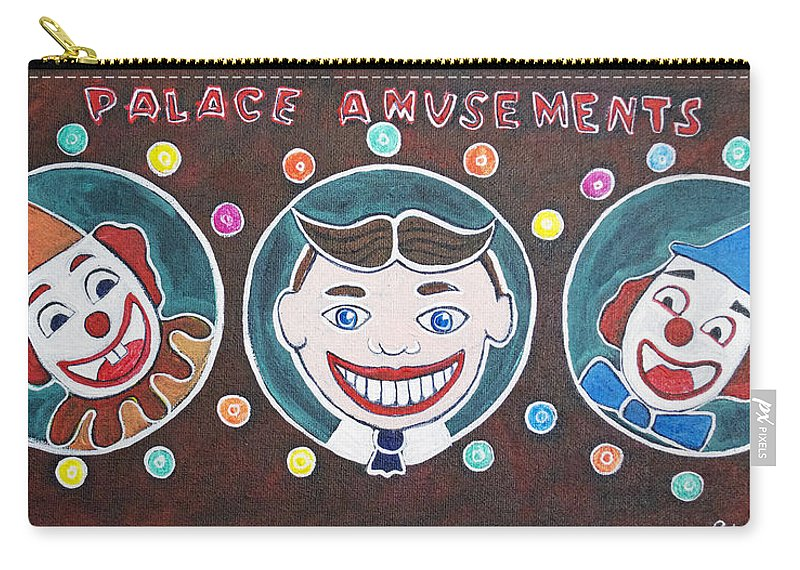 Asbury Park Carry-all Pouch featuring the painting The Three Amigos by Patricia Arroyo