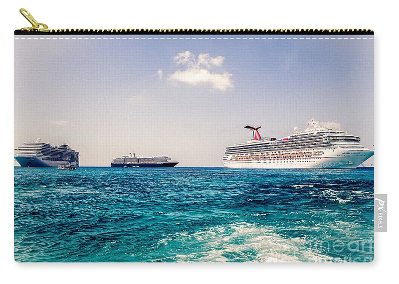 Ships Carry-all Pouch featuring the photograph The Threesome by Rene Triay Photography
