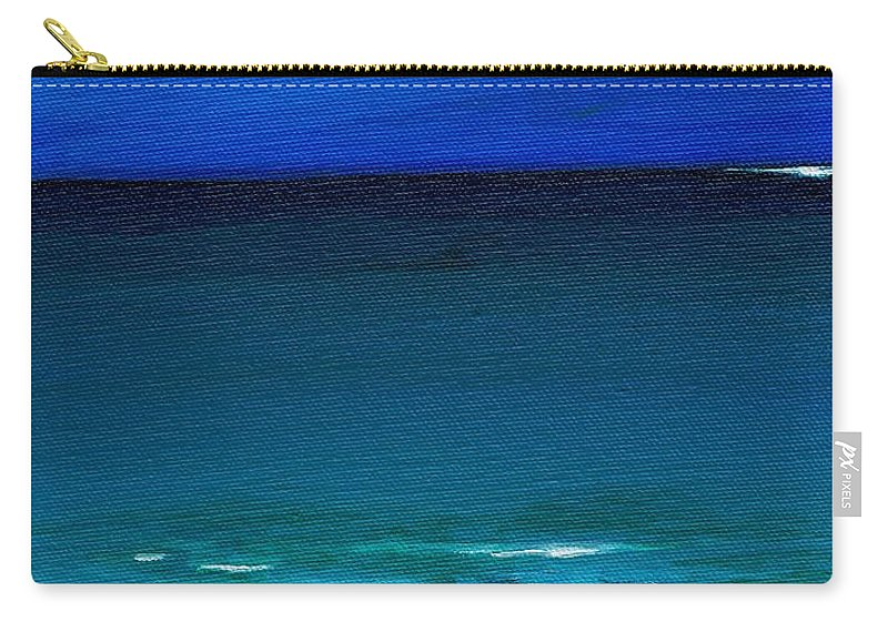 Seashore Carry-all Pouch featuring the painting The Tide Coming In by Frances Marino